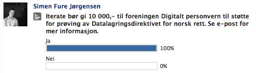 Avstemning om støtte Digitalt personvern