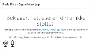 DigitalLeksehjelp technical error